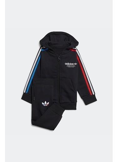 adidas Adidas Erkek Bebek Günlük Eşofman Takım Hoodie Fz Set Gn7418 Siyah